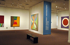 """A view of the """"Color as Field"""" exhibit curated by Wilkin during its showing at SAAM last year"""