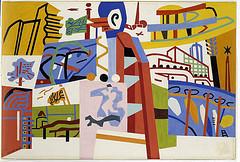 "Stuart Davis, ""Impression of the New York World's Fair"" (mural study, Communications Building, World's Fair, Flushing, New York), 1938 (via SAAM's Flickrstream)"