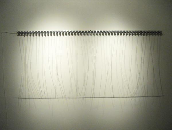 "Zimoun, ""50 prepared dc-motors, filler wire 1.0mm"""