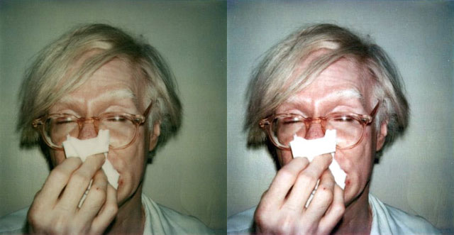 An old photo of Warhol, Normalized