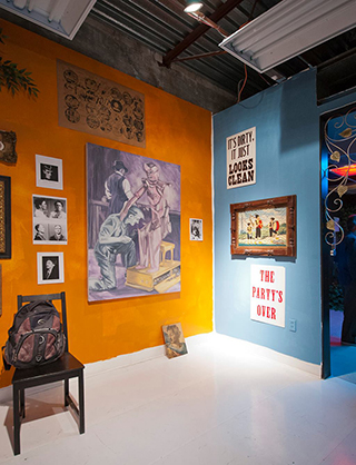 """Installation view of """"Pataphysics for Dummies"""""""