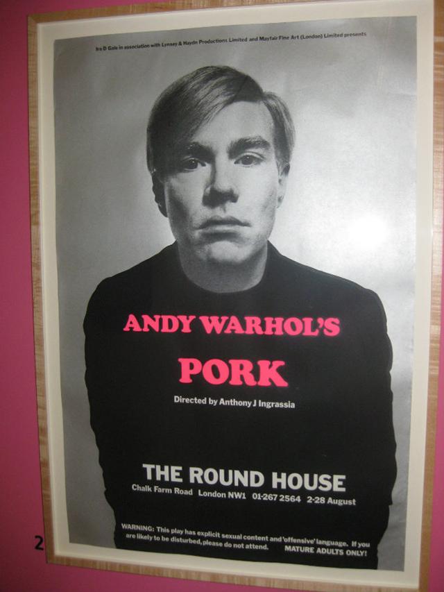 "Andy Warhol, ""Pork"" poster"