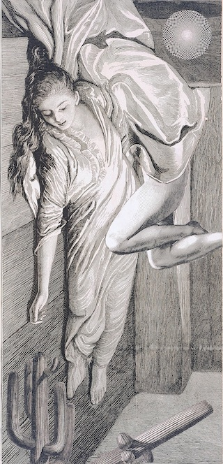 """Max Ernst, """"La femme 100 têtes ouvre sa manche auguste (The 100-headed Woman Opens Her August Sleeve),"""" (1925)"""