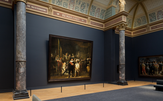 """""""The Night Watch"""" in the renovated Rijksmuseum (Image via Holland.com)"""