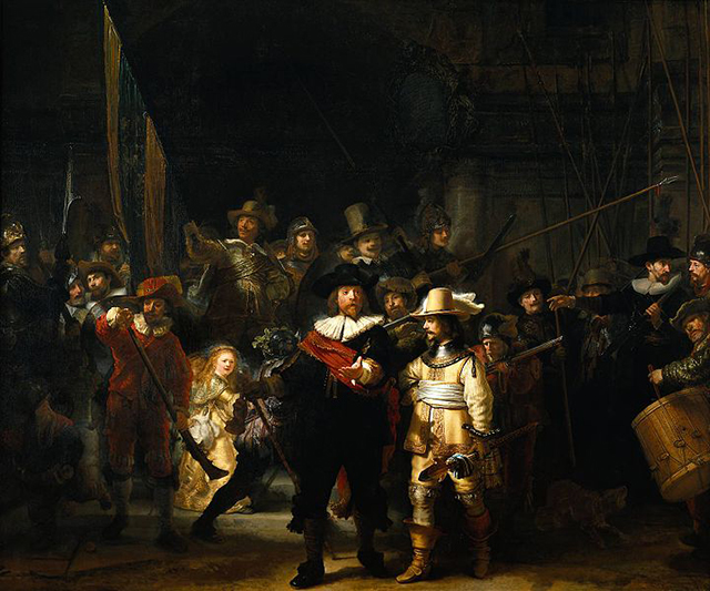 """""""The Night Watch"""" by Rembrandt (1642) (Image via wikipedia.org)"""