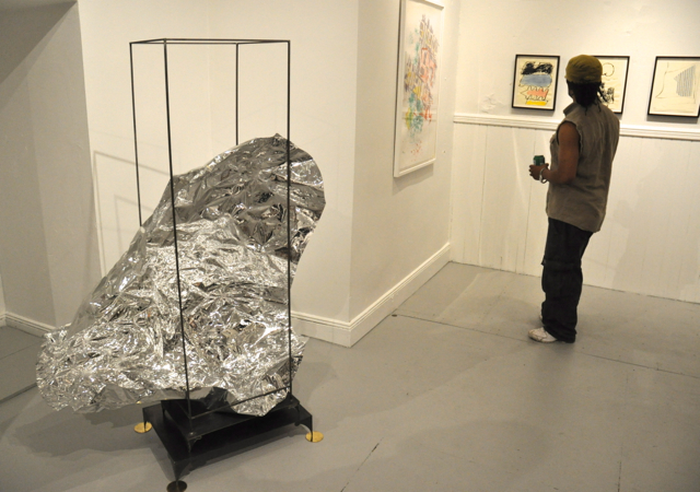 """Peter Lapsley's """"The Elder"""" (2012) at Lorimoto gallery."""