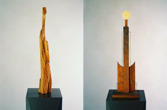 """The two Still sculptures in the Denver show date from 1938 (right) and 1943 (left) and they are both roughly 30"""" (76cm) in height."""