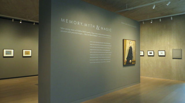 Memory, Myth & Magic exhibition installation photographs. Clyfford Still Museum, Denver, Colorado (all images courtesy © Clyfford Still Museum unless otherwise noted)