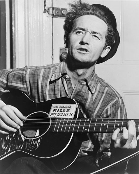Woody Guthrie (photograph by Al Aumuller, courtesy Library of Congress)