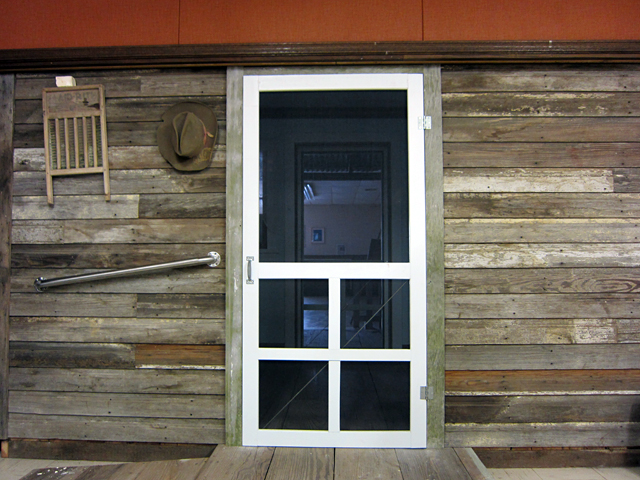 The reconstructed front of Woody Guthrie's Okemah home in the Okfuskee County Historical Society