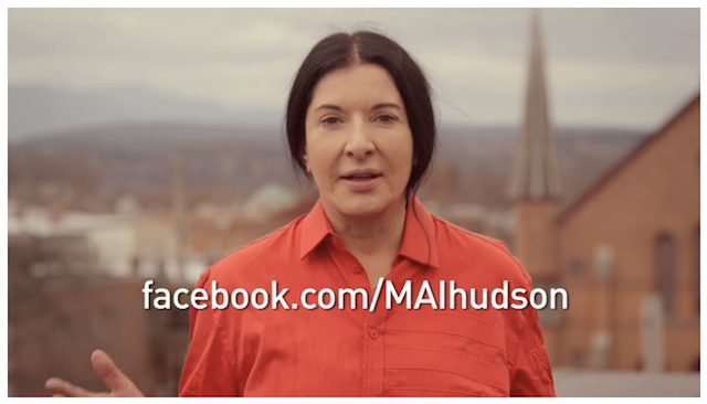Screengrab from a promotional video for the Marina Abramovic Institute video