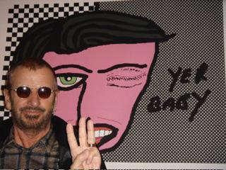 Ringo Starr and his art (via ringostarrart.com)