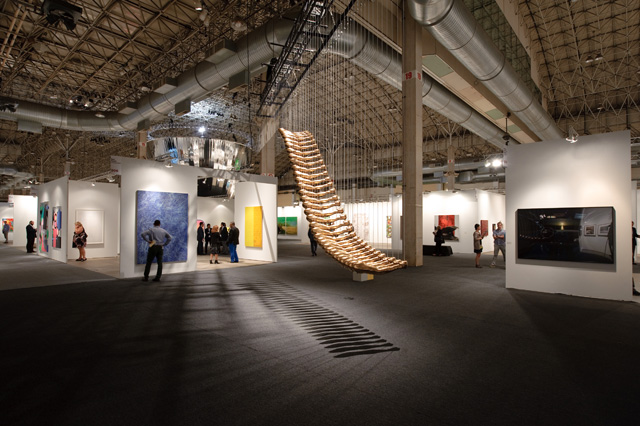 """A view of Glenn Kaino's  """"Bridge,"""" which was featured in the IN/SITU section of the fair. (Photo by Cheri Eisenbeg, and provided by Expo Chicago)"""