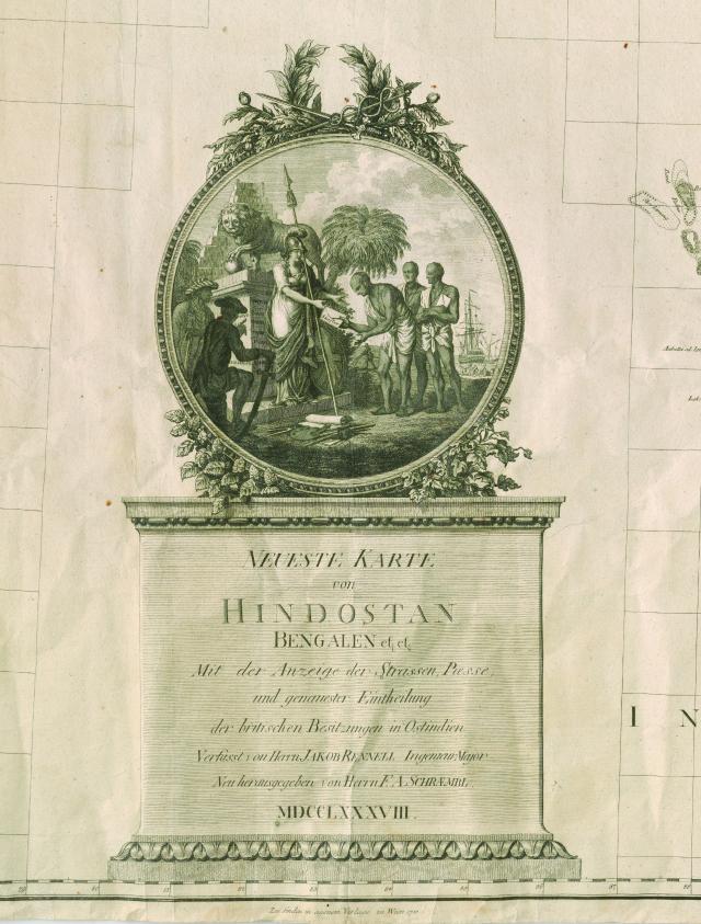 Franz Anton Schrambl, after James Rennell, Neueste Karte von Hindostan, Bengalen, etc., etc. (1788). Courtesy of the David M. Rubenstein Rare Book & Manuscript Library, Duke University.