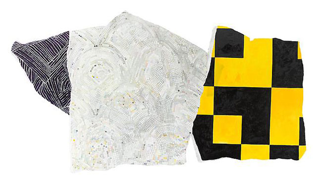 """Hermine Ford, """"Untitled (325-13)"""" (2013), oil paint on cotton muslin on shaped panel, 41 x 75 x 3/4 in (via outletbk.com)"""