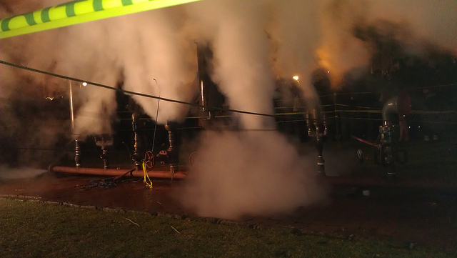 Steam whistles at Pratt (photo by Becky Stern, via Flickr)
