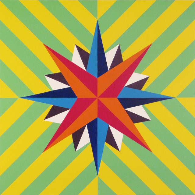 """Stephen Westfall, """"Star"""" (2010), oil and alkyd on canvas, 35 1/2 x 35 1/2 inches."""