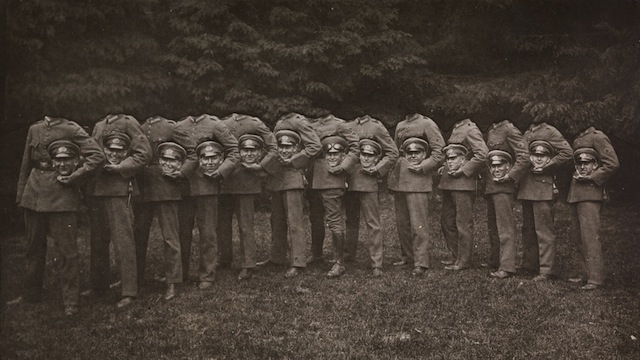 Headless soldiers (via Curious History)