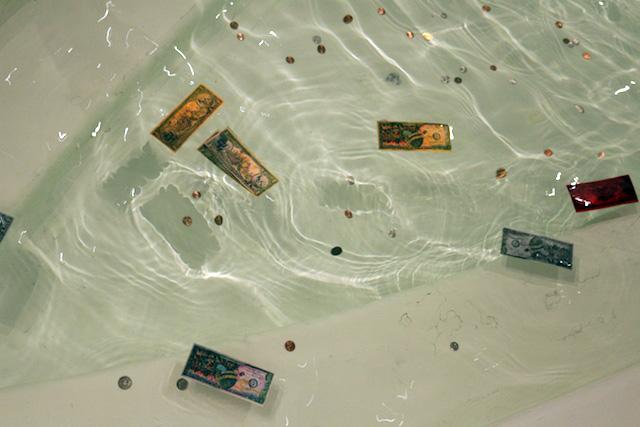 Bills float in main floor water feature
