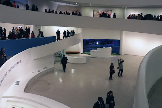 The museum's first floor was cleared by security shortly after the action was completed