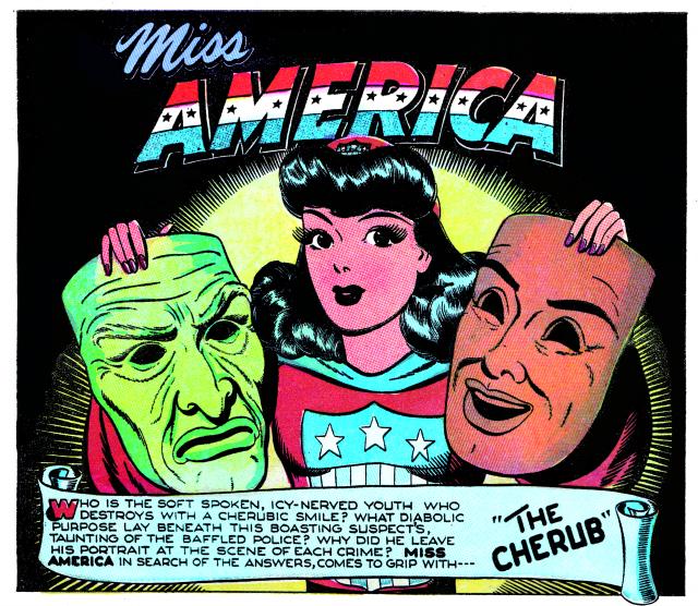 "Detail of Pauline Loth's ""Miss America"" (1945)"