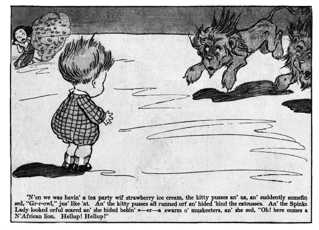 """Details of """"The Turr'ble Tales of Kaptin Kiddo"""" written by Margaret G. Hays & illustrated by Grace G. Wiederseim (1910)"""