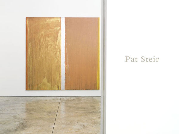"""Installation view showing Pat Steir's """"Colors Without Names"""" (2013), oil on canvas, 132 x 132 in (click to enlarge)"""