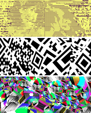 """Claudia Hart, """"Augmented Reality Activated Patterns"""" (2014)."""