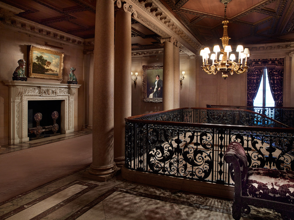The top of the second-floor landing in the former Frick residence (photo by Michael Bodycomb)