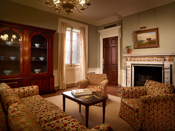 The former Frick family breakfast room, located on the second floor of the former Frick mansion (photo by Michael Bodycomb)