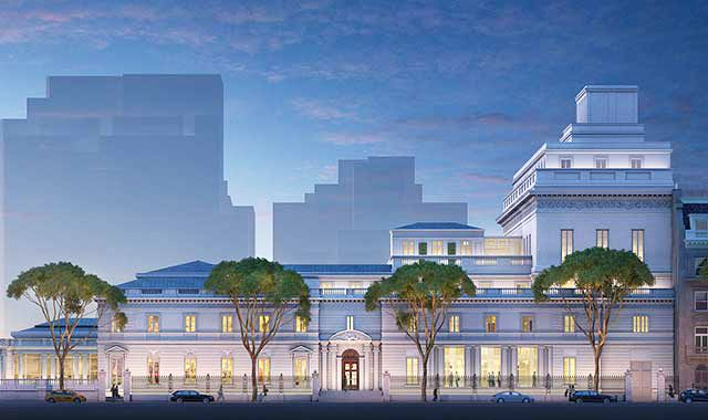 Elevation of the Frick Collection plan from 70th Street. The artist's rendering is courtesy of Neoscape Inc., 2014 (all images courtesy of the Frick Collection)