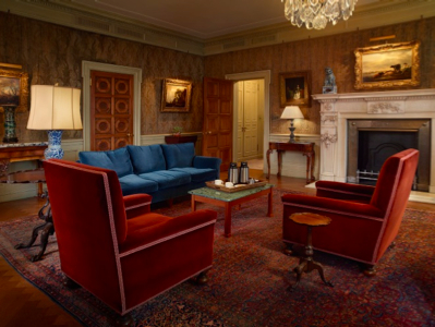 The former second-floor study of Mrs. Frick (photo by Michael Bodycomb)