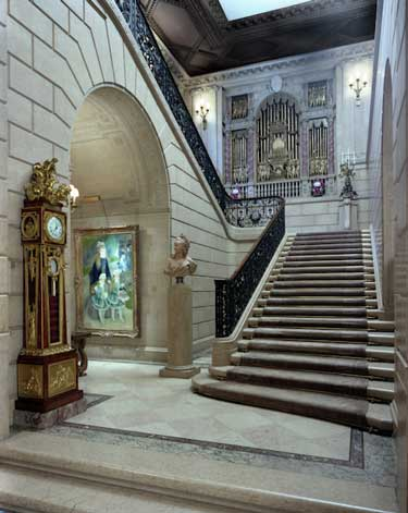 The Grand Staircase at the Frick Collection (photo by Michael Bodycomb)