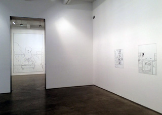 """A view of the Lawler """"No Drones"""" exhibition at Metro Pictures"""
