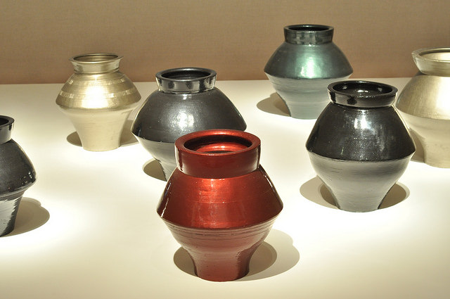 """Ai Weiwei, """"Han Dynasty Vases with Auto Paint"""" (2013), Han Dynasty vases (202 BCE–220 ACE) and automotive paint"""