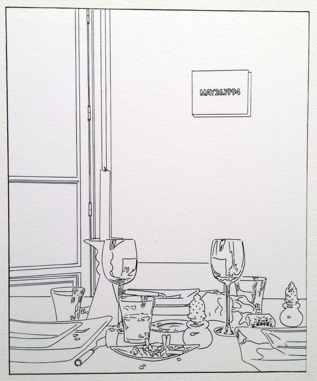 """Louise Lawler, """"Still Life (Candle) (traced)"""" (2003/2013)"""