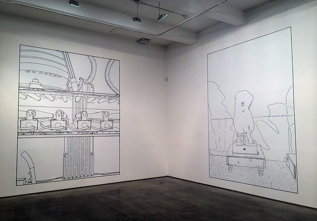 Two works by Louise Lawler at Metro Pictures (all photos by the author for Hyperallergic)