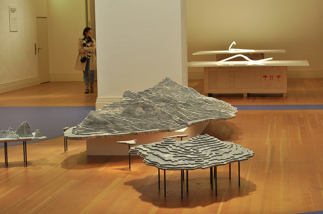 """Ai Weiwei, """"Diaoyu Islands"""" (2014), marble"""