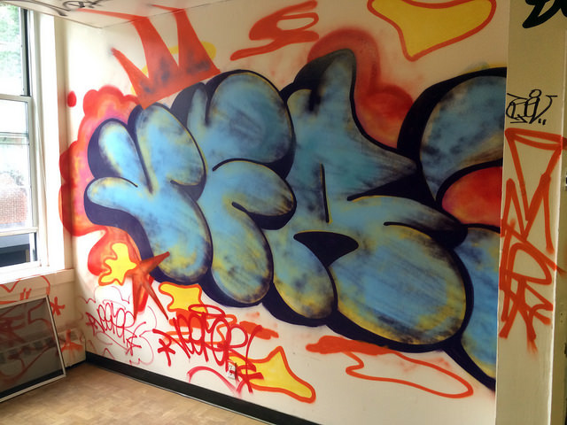 A throw-up in one of the rooms.
