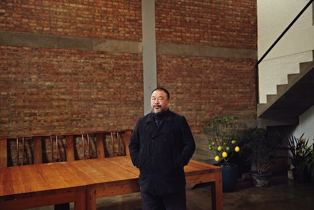 Ai Weiwei at home (photo by Matt Robinson, courtesy 'Puss Puss' magazine) (click to enlarge)