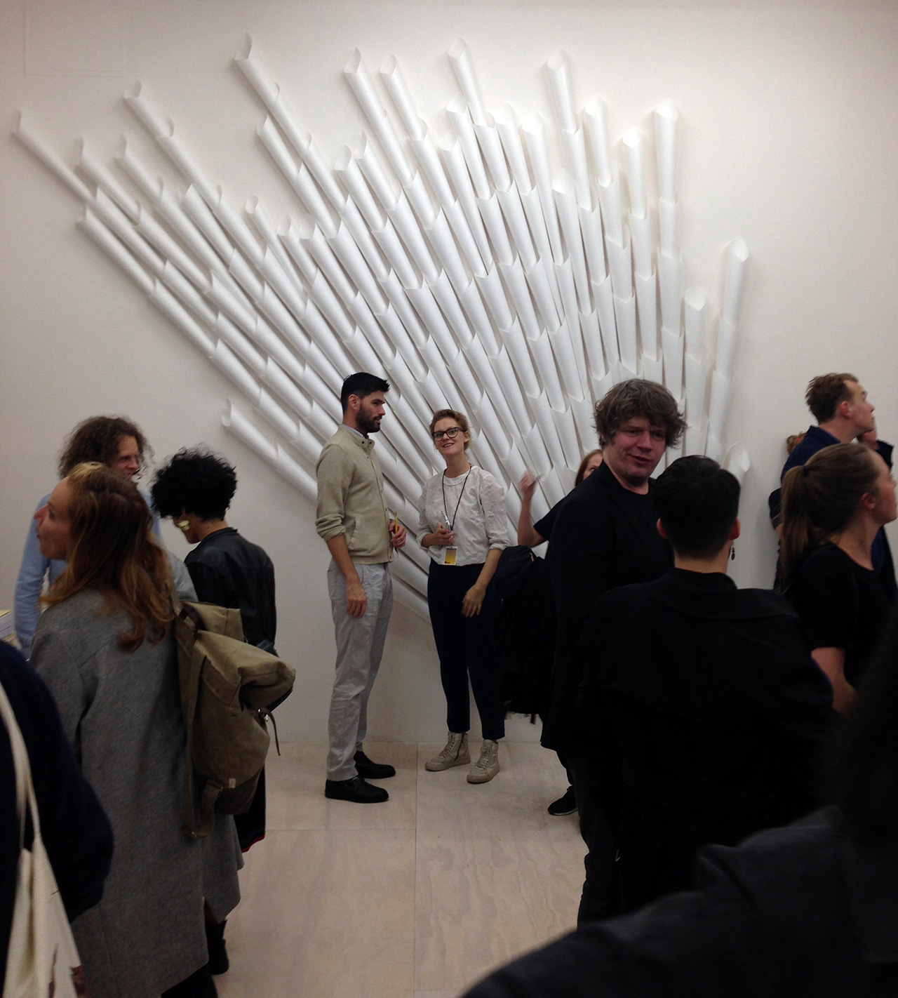 Opening night at Norway Focus: KUNSTNERBØKER (all photos by the author for Hyperallergic)