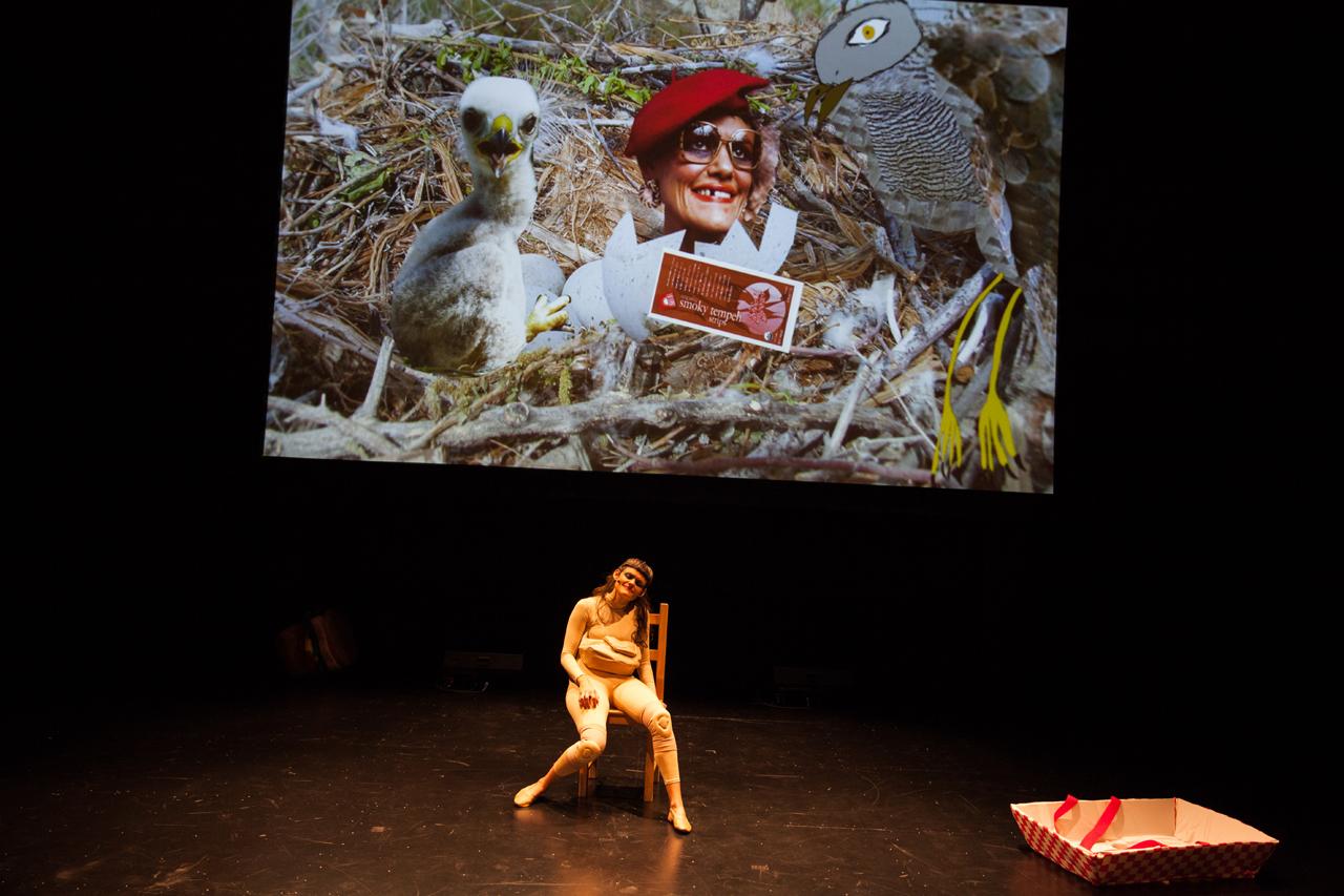 Dynasty Handbag performing 'Soggy Glasses: A Homo's Odyssey' at BAM