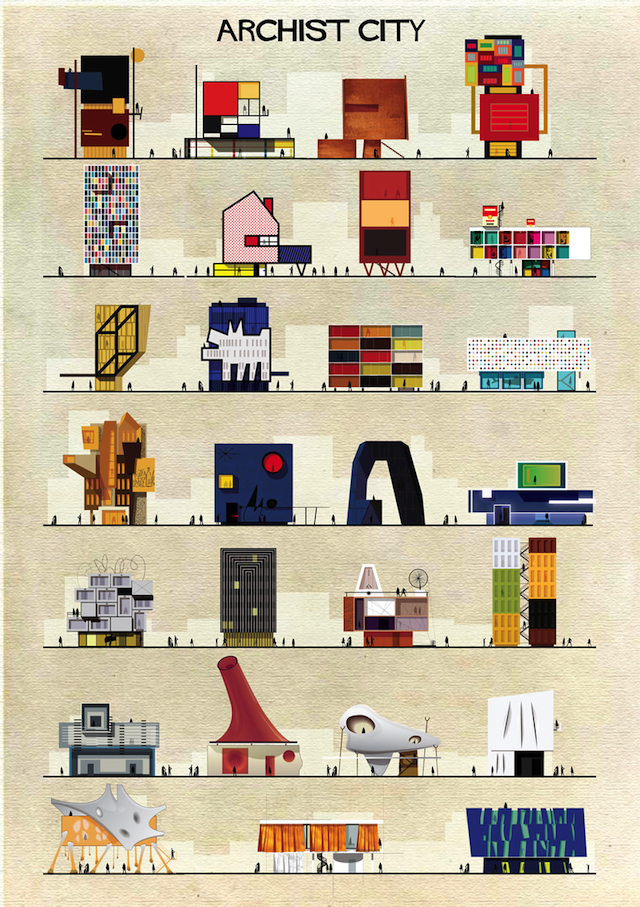 """""""Archist City"""" by Federico Babina (All images courtesy of the artist)"""