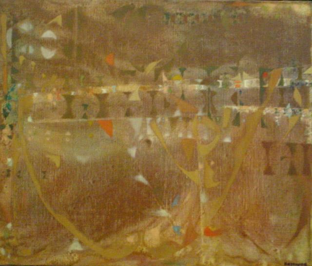 Joe Downing, _Recall_ (1975) oil, 46x55cm