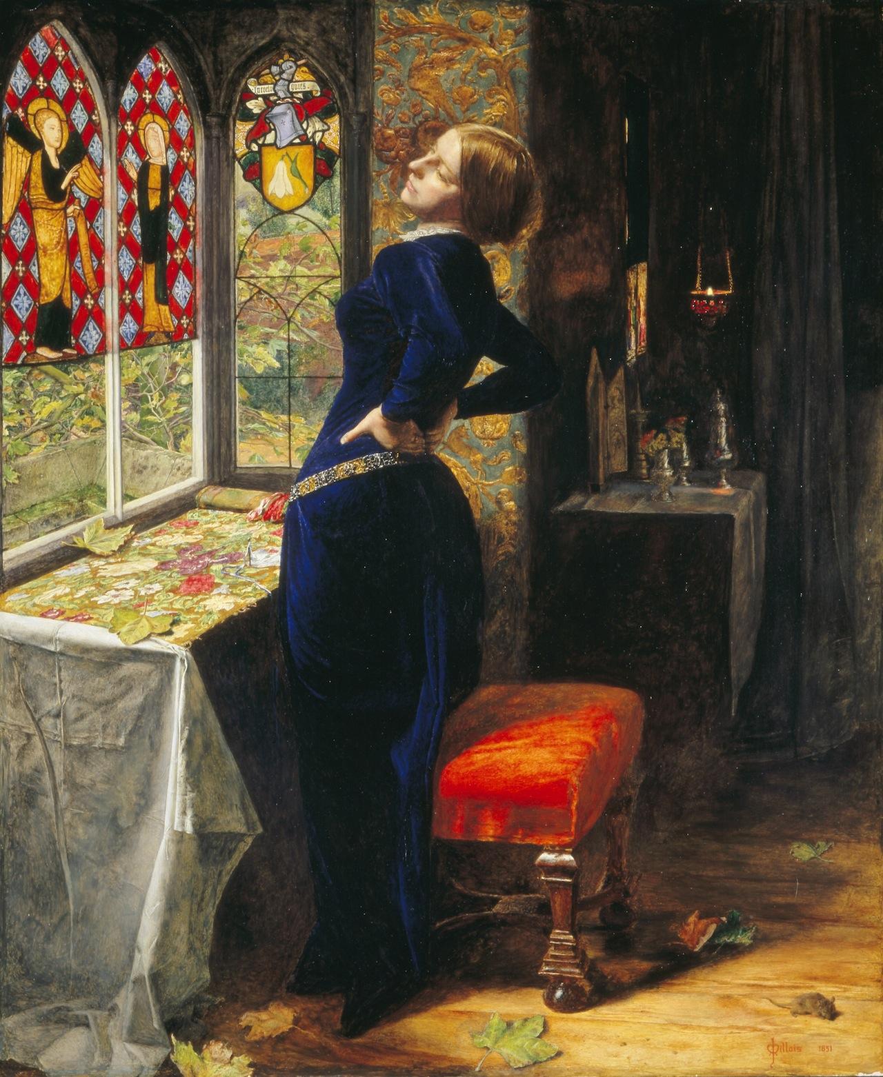 Sir John Everett Millais, Mariana, 1851, oil on panel.  Tate, London, United Kingdom/Art Resource, NY.