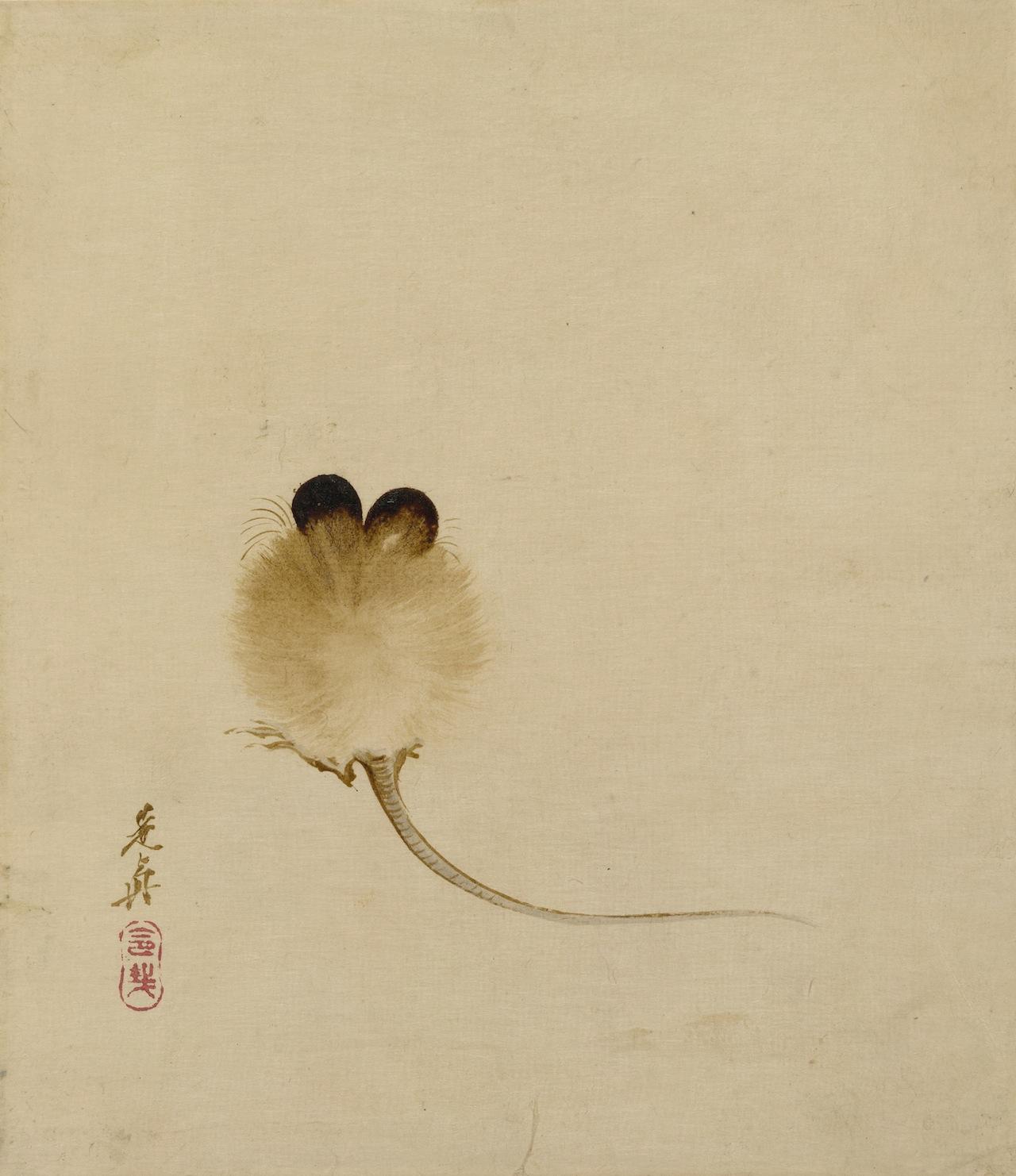 Shibata Zeshin, Mouse, nineteenth century, lacquer on paper. Object reg. no: 1928,0720,0.35, British Museum, London, United Kingdom. © The Trustees of the British Museum/Art Resource, NY.
