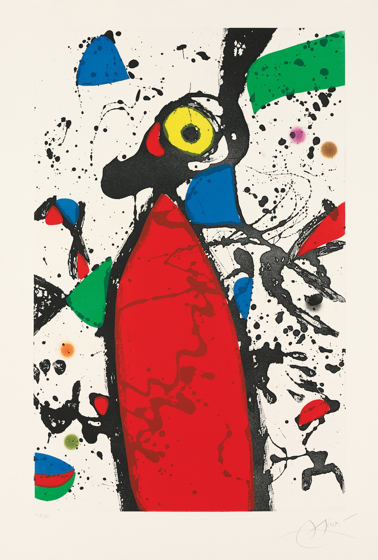 Joan Miró, Red Mouse with Mantilla, 1975, aquatint. Private Collection. © 2014 Successió Miró/Artists Rights Society (ARS), New York/ADAGP, Paris. © Christie's Images/Bridgeman Art Library.