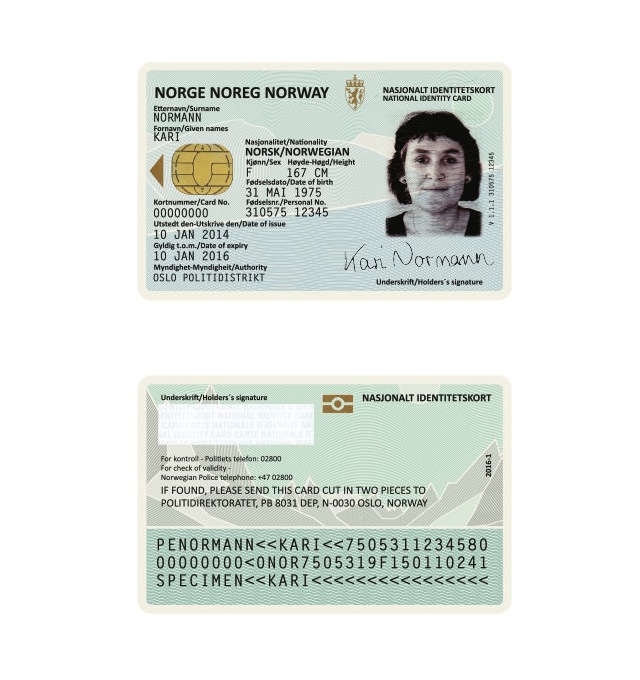 Norway's new ID card (Image courtesy of Neue)