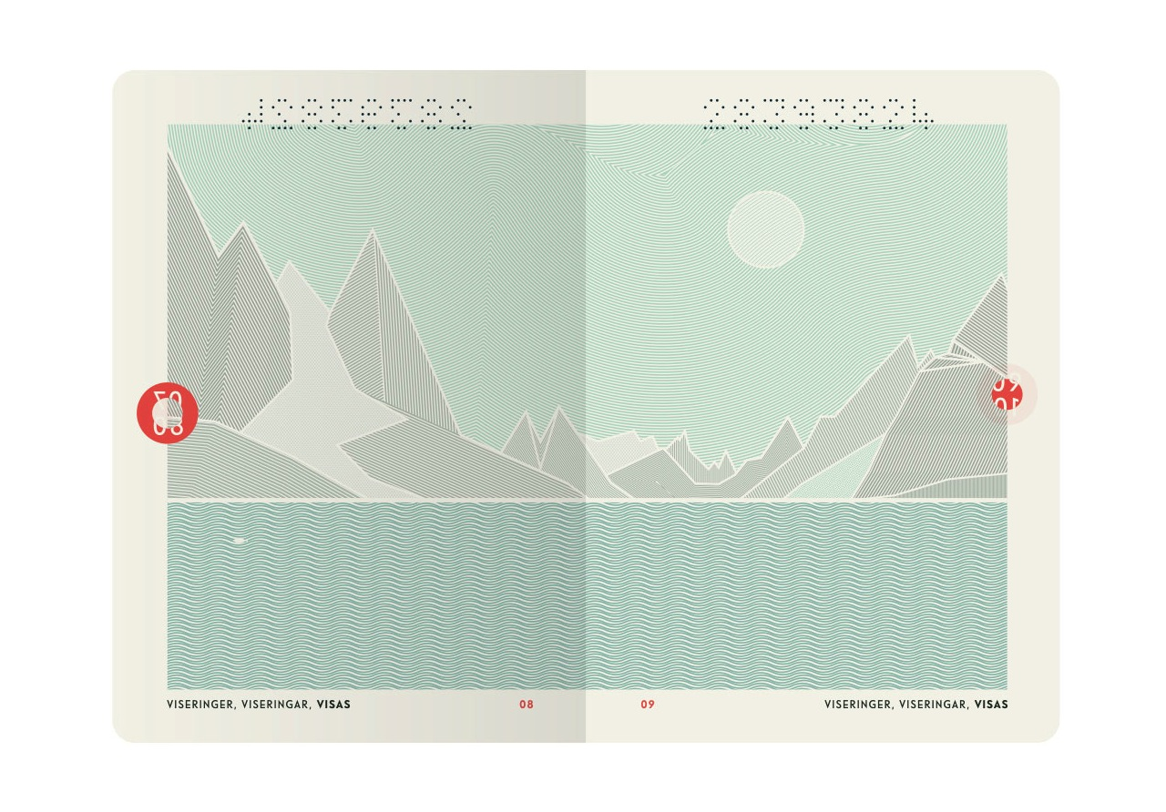 The inside of Norway's new passport (Image courtesy of Neue)