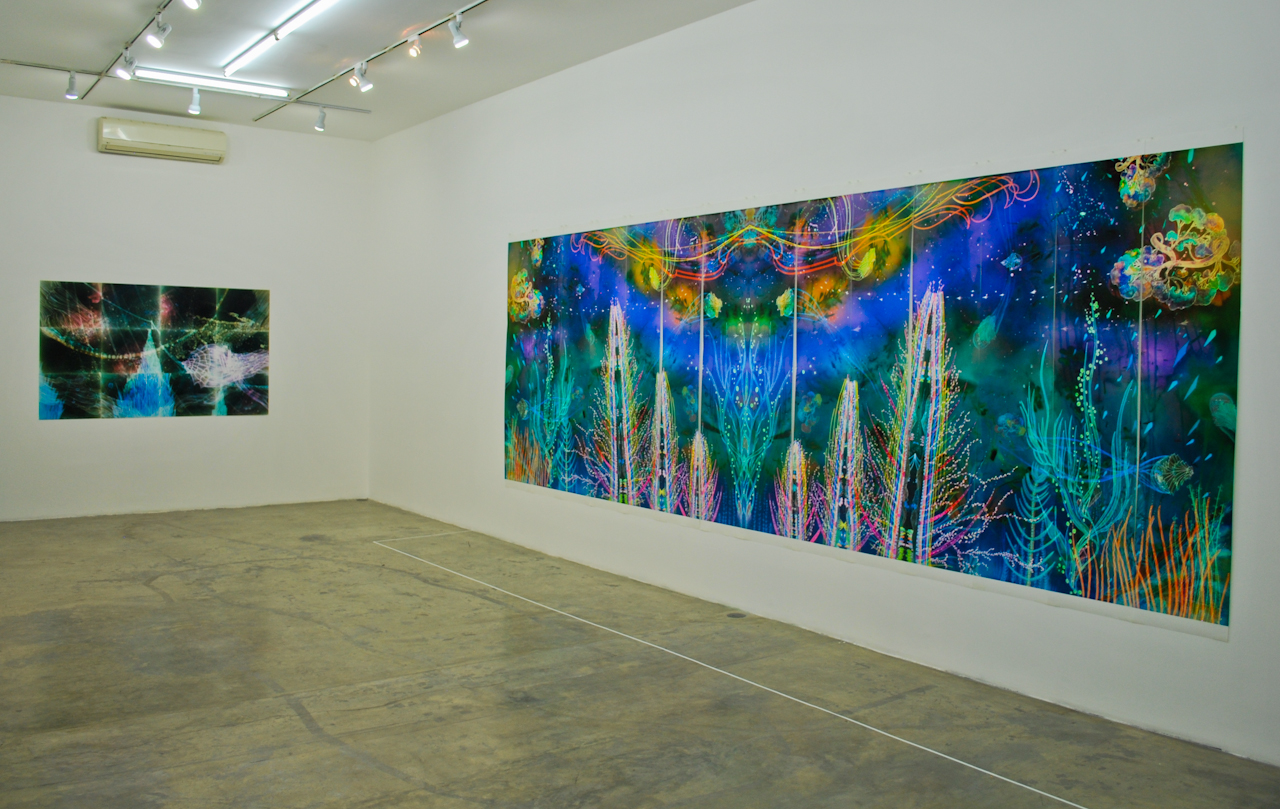 Installation shot of Galerie Quynh on De Tham st. All photographs by the author.